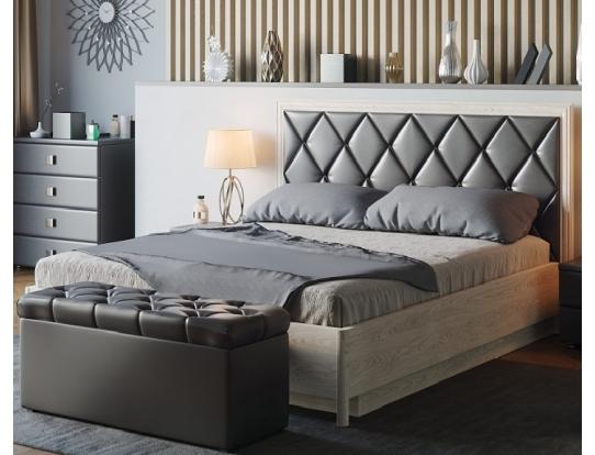 Изголовье для кровати, стежка ромбы