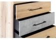 Комод с 5 ящиками Loft Дуб натур/Бетон