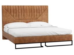 Кровать 1.4 Loft Alberta Браун с подъемным механизмом и ящиком