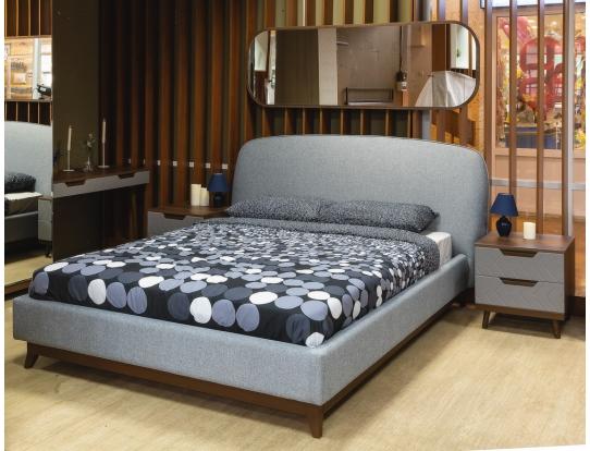 Кровать 1.6 Сканди Лайт Грей