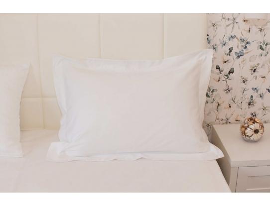 Комплект постельного белья, белый сатин-гладь