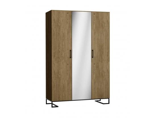 Шкаф трехстворчатый с зеркалом Loft Дуб Табак