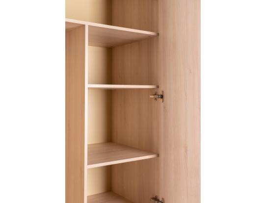 Шкаф двухстворчатый Сканди Жемчужно-белый