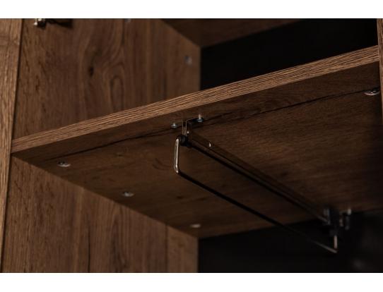 Шкаф одностворчатый с полками Loft Дуб Табак