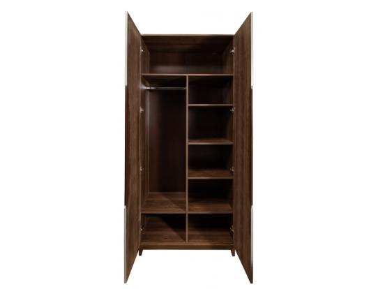 Шкаф двухстворчатый с зеркалами Сканди Грей