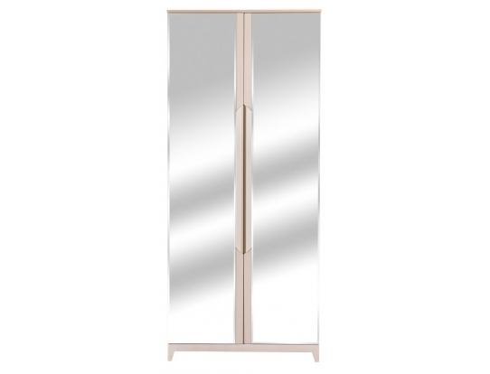 Шкаф двухстворчатый с зеркалами Сканди Жемчужно-белый