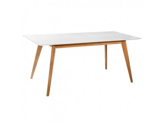 Стол раскладной Лунд белая столешница, 140 см