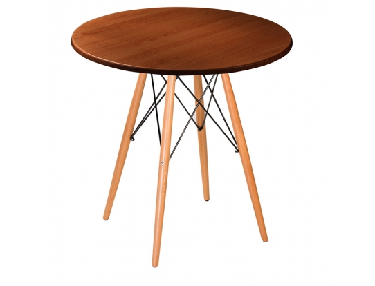 Стол Eames woodR nut 80 см