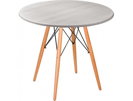 Стол Eames woodR white wood 80 см