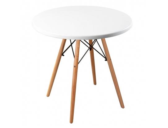 Стол Eames woodR pure white 80 см