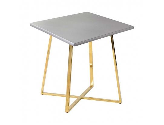 Стол Haku Gold 80x80 серебро