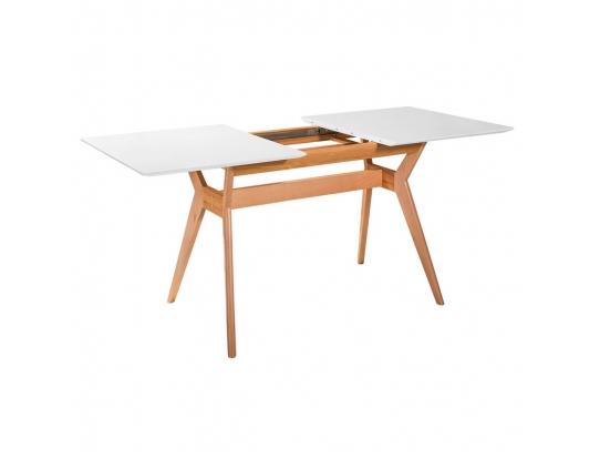 Стол раскладной Нарвик белая столешница, 140 см