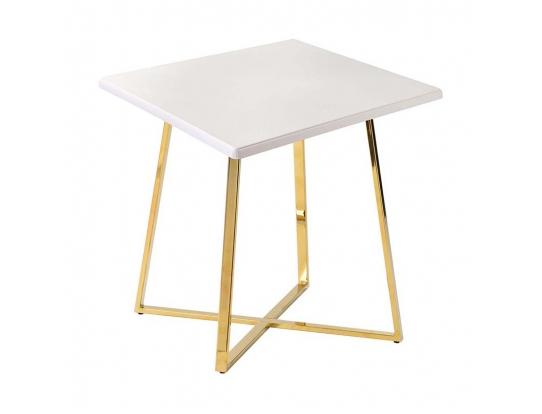 Стол Haku Gold 80x80 белый