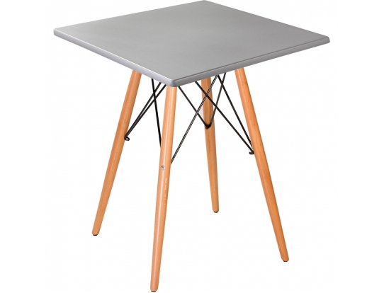 Стол Eames woodS brushed silver