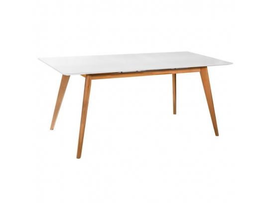 Стол раскладной Лунд белая столешница, 120 см