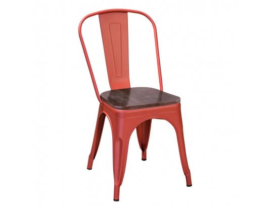 Стул Tolix Wood Красный