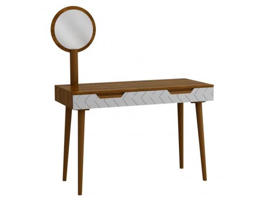 Зеркало для стола туалетного Сканди Орех